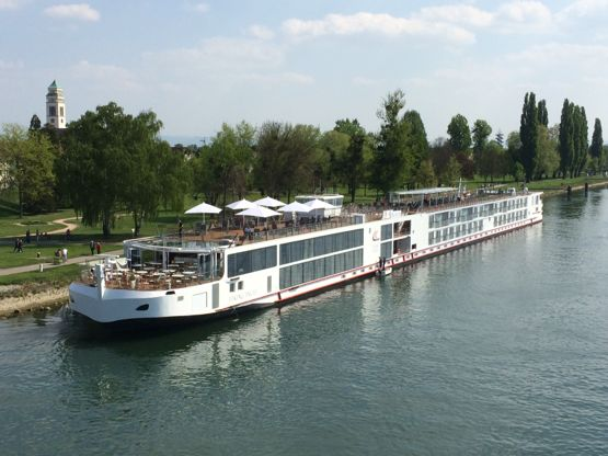 Viking River Cruises longship Ingvi at Kehl, Germany, yesterday