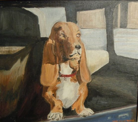 """Pokey,"" Original oil painting by Lois Stiles Edgerly, circa 1970"